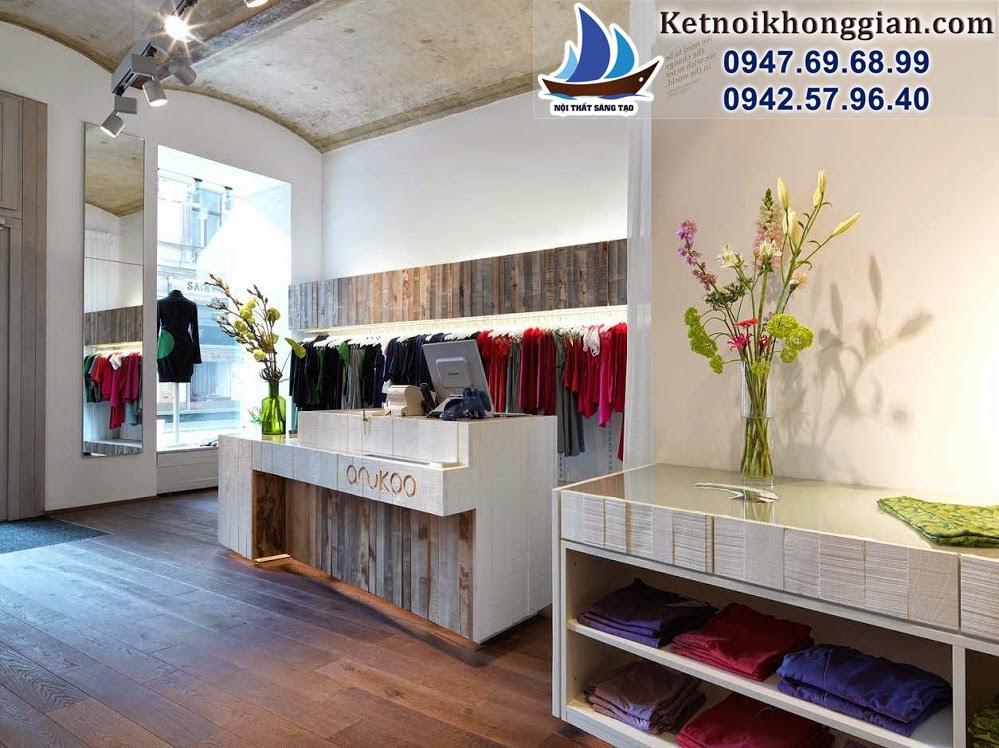 thiết kế shop thời trang nữ nghệ thuật