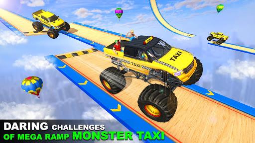 Mega Ramp Monster Truck Taxi Transport Games modavailable screenshots 2