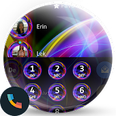 Neon Abstract Phone Dial Theme