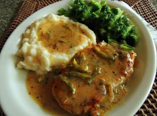 """Jaime's Smothered Pork Chops""""I couldn't find a pork chop recipe that sounded..."""