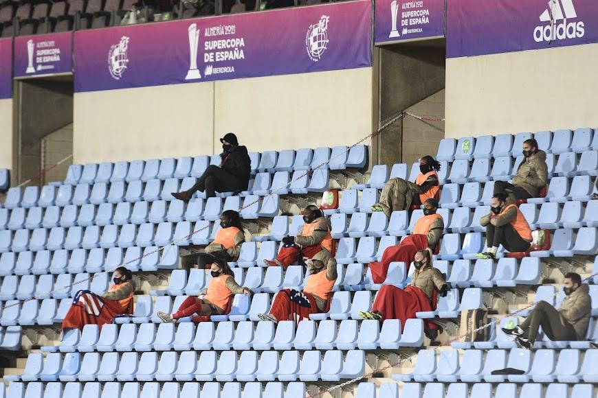 El banquillo del Atlético de Madrid.