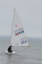 Photo: ..and sails off, ready to represent the USA in this worldwide sailing event.