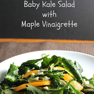 Baby Kale Salad with Maple Vinaigrette