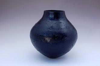 "Photo: Stuart Glickman - Black Pot - 8"" x 8"" - Maple with Acrylic Paint"