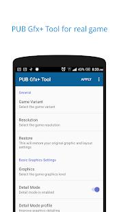 PUB Gfx+ Tool🔧 (with advance settings) NOBAN Screenshot