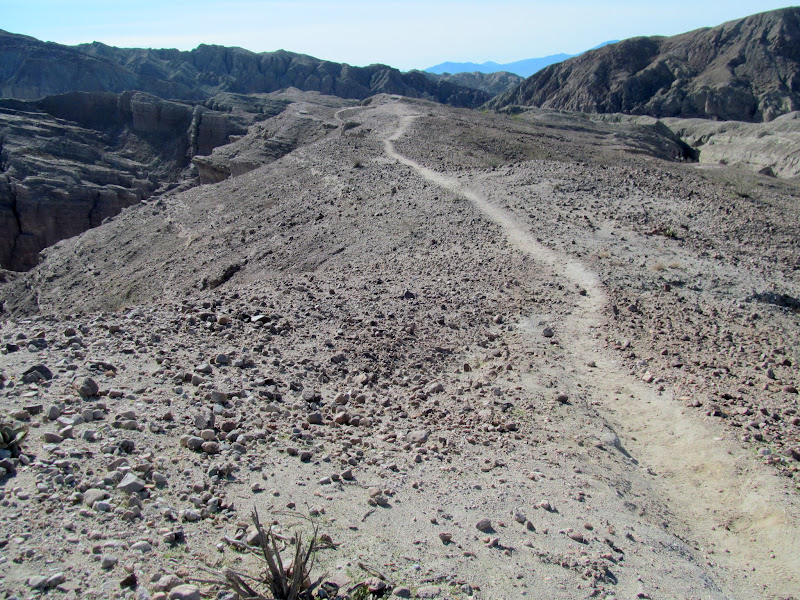 Photo: Trail on top of Mecca Hills