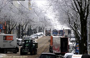 Photo: Schneefall in Rostock am Jahresende