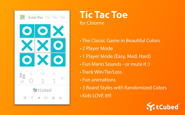 Colorful Tic Tac Toe - Chrome Web Store