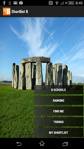 Shortlist B - UK MBA