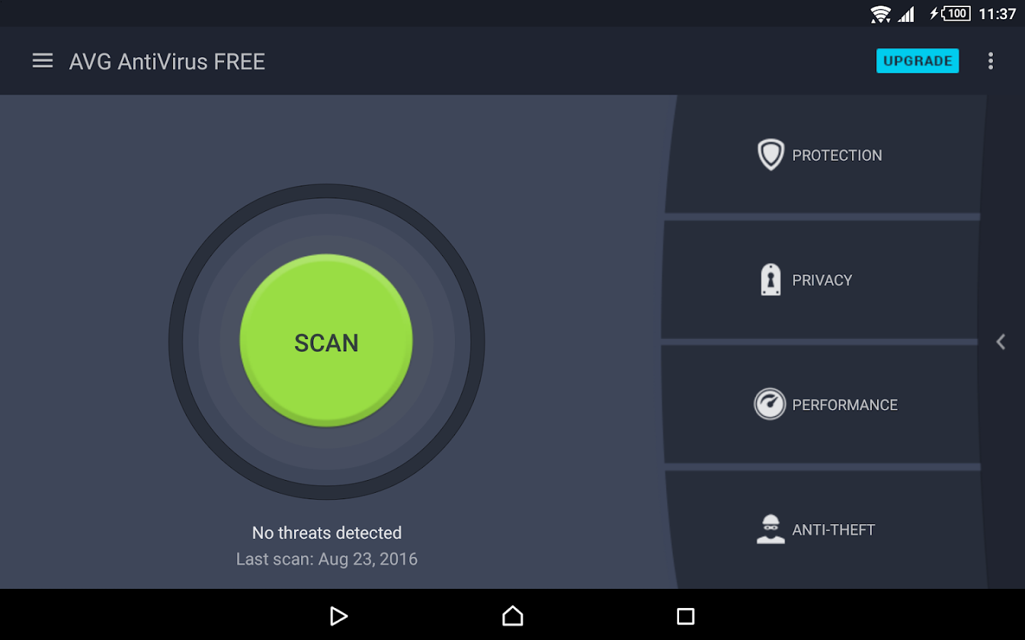 Tablet AntiVirus FREE 2017- screenshot