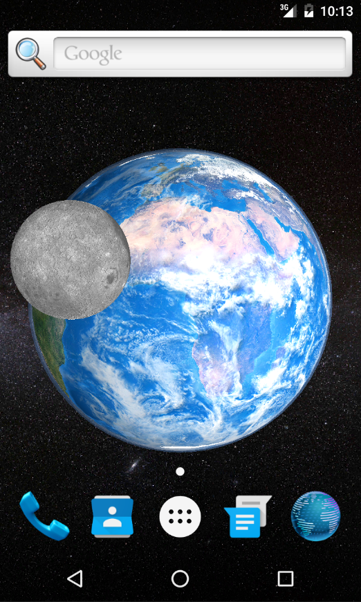 3D Earth live wallpaper- screenshot
