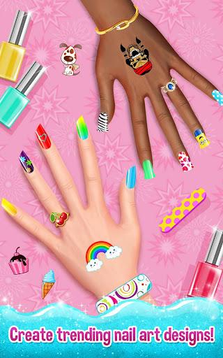 Nail Art Shiny Design Salon - Sweet Girls Manicure image   5