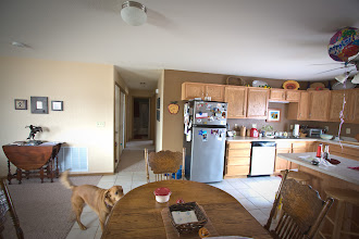 Photo: View of hallway that splits the master bedroom and bedrooms #2 and #3