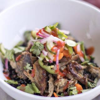 Slow Cooker Pulled Pork Banh Mi Bowls.