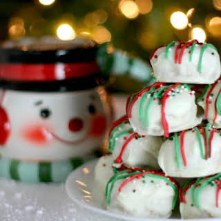 White Chocolate Peanut Butter Christmas Cookies.