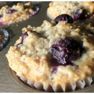 Healthy Oatmeal Blueberry Muffins(with greek yogurt).