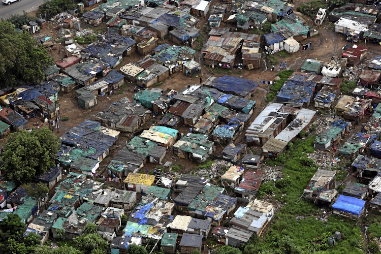 An informal settlement in KwaZulu-Natal. Picture: SUNDAY TIMES/JACKIE CLAUSEN