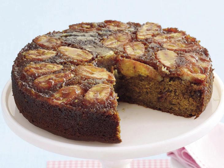 Banana Rum-Raisin Upside-Down Cake Recipe