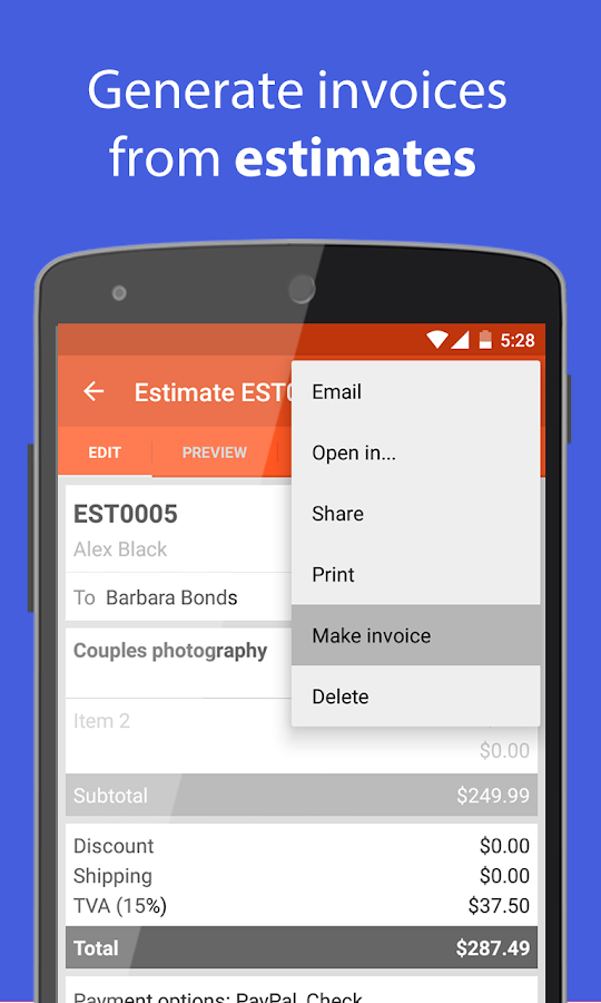 Invoice & Estimate on the Go- screenshot