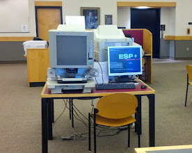 Photo: microfilm reader connected to a computer