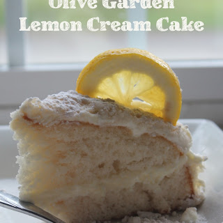 Copy Cat Olive Garden Lemon Cream Cake