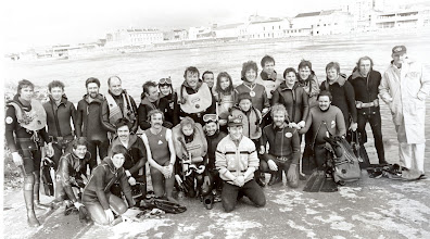 Photo: Annual fin- swim from Atlunkard Boat, pictured here at the finish on St. Michael's B.C. slipway.