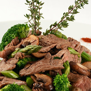 Beef & Mushroom Stir Fry With Soy Sauce.
