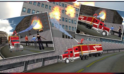 ヒル消防車レスキューを登ります