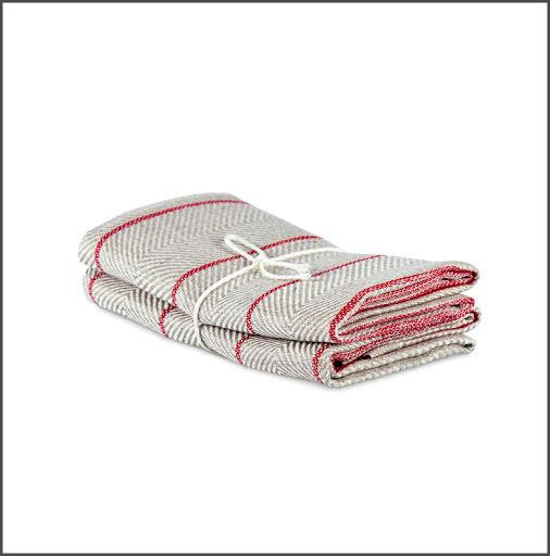 Handduk Marulk röd-vit