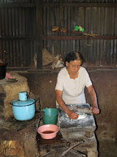 Photo: Our hostess preparing lunch.