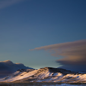 Near Malta by Paul Cushing - Landscapes Mountains & Hills ( clouds, idaho, hill, sky, mountain, snow )