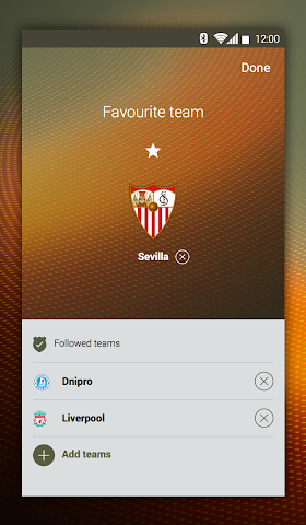 android UEFA Europa League Screenshot 1