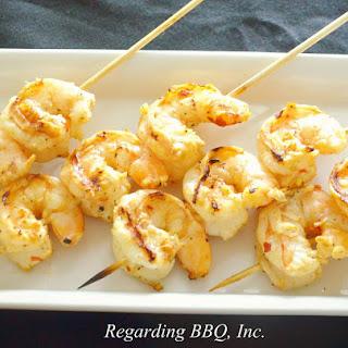 Grilled Garlic Butter Shrimp.