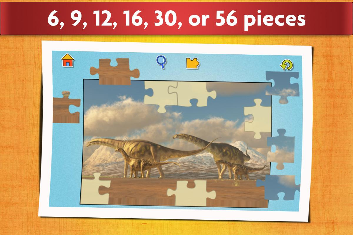 Dinosaurs Jigsaw Puzzles Game - Kids & Adults- screenshot