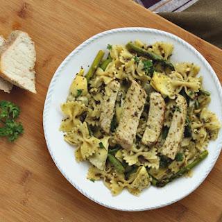 Roasted Pork Tenderloin Pesto Pasta Recipe