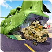 Offroad Army Transport Cargo Plane Simulator
