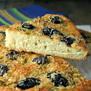 Shortcut Olive Focaccia Bread