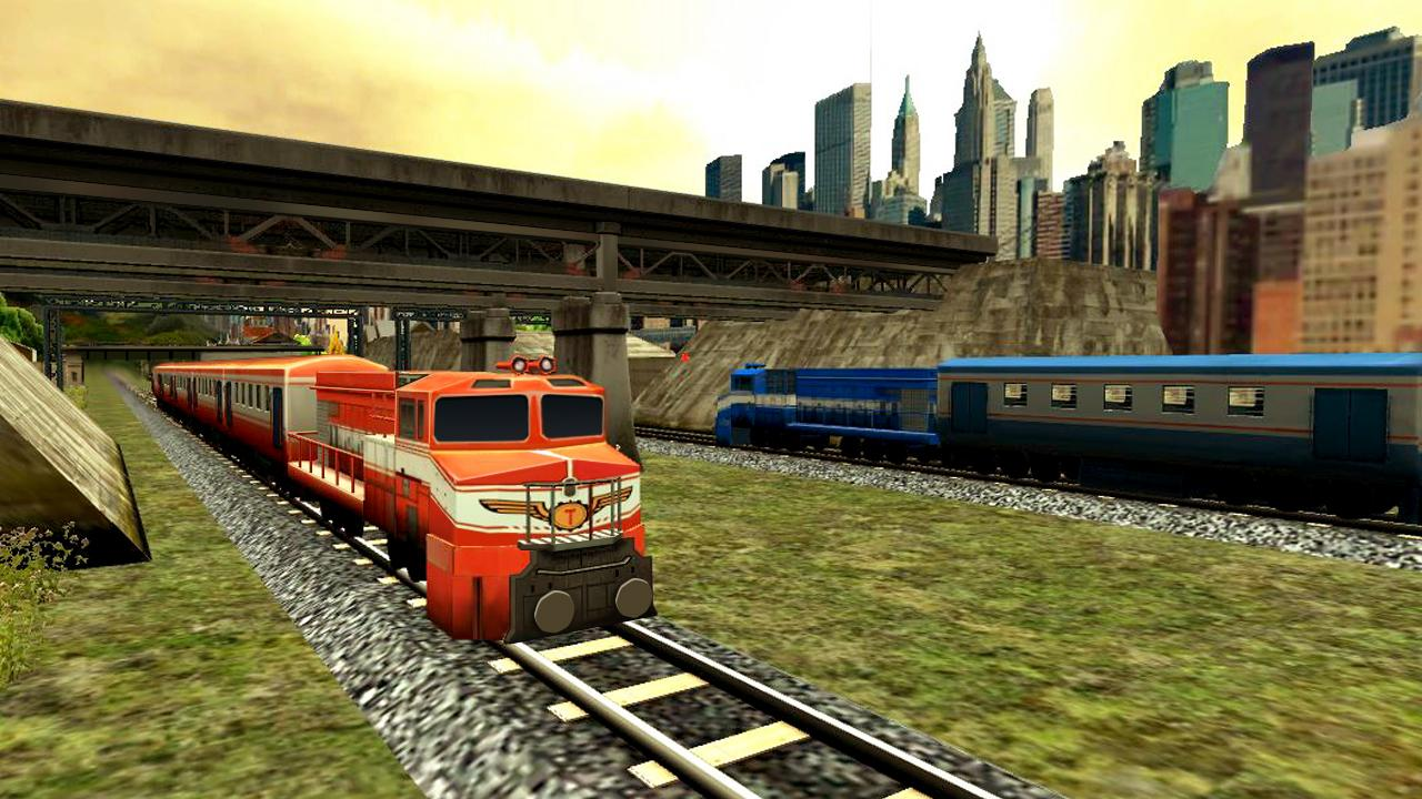 Train Racing Games 3D 2 Player- screenshot