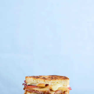 Plum, Bacon, Blue Cheese & Brie Grilled Cheese.