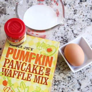 Toasted Marshmallow Mini Pumpkin Pancakes