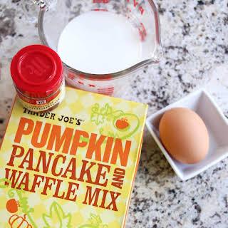 Toasted Marshmallow Mini Pumpkin Pancakes.