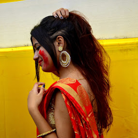 Last One  by Santanu Goswami - People Portraits of Women