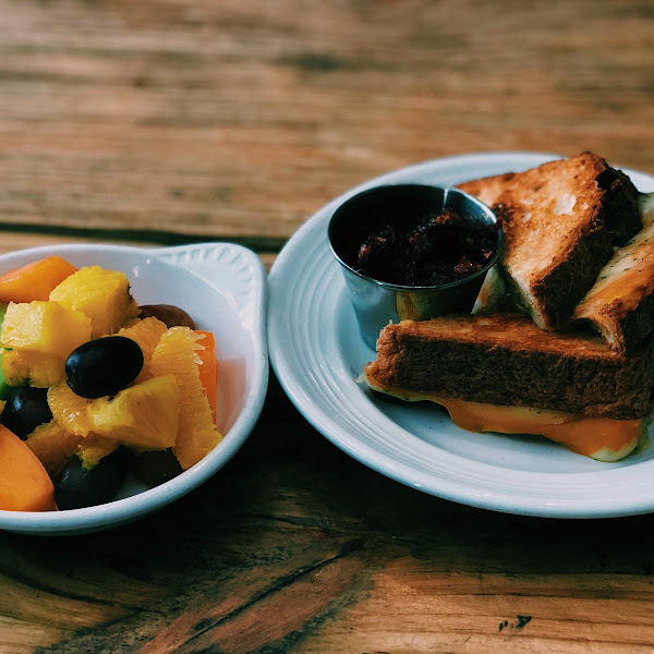 This is what I got for lunch- it was the grilled cheese and mixed fruit!! It was delicious!