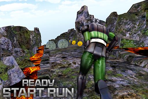 3D Mask Run Rider Man Rush