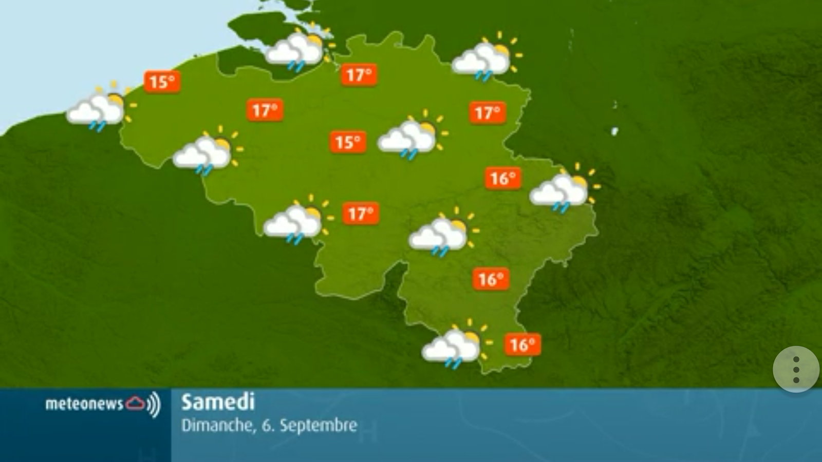 Weather for Belgium + World- screenshot