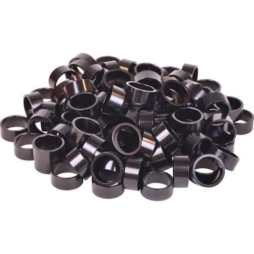 """Wheels MFG Bulk Headset Spacers 1-1/8"""" x 15mm Black, Bag of 100"""