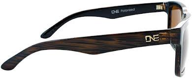 Optic Nerve ONE Mashup Polarized Sunglasses: Shiny Driftwood Demi with Polarized Brown Lens alternate image 0