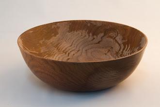 """Photo: Eliott Schantz - Bowl - 9.5"""" x 2.5"""" [Walnut, partially finished]"""