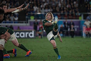 Faf de Klerk of the Springboks during the Rugby World Cup 2019 Pool B match between New Zealand and South Africa at International Stadium Yokohama on September 21, 2019 in Yokohama, Japan.