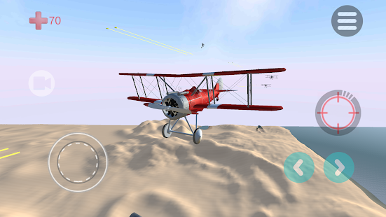 Air King: VR airplane battle is a plane aerial combat game where the user takes control of an old propeller driven biplane aircraft, trying to achieve air supremacy. The goal of the game is to dogfight and take down as much enemy planes as possible, achieving the highest score.